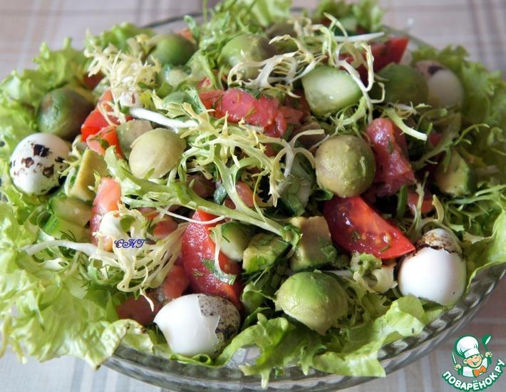 Рецепт: Салат Фризе с авокадо