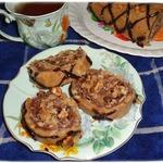 Рулет из печенья с шоколадно-ореховой начинкой