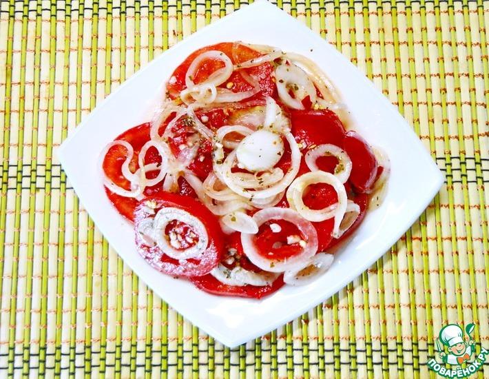 Рецепт: Быстрые помидоры в остром медовом маринаде