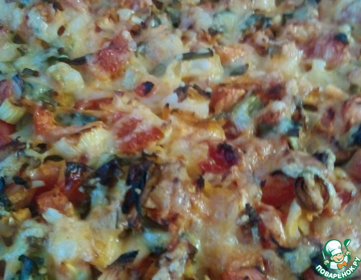 Рецепт: Куриное филе под овощами