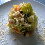 Салат из китайской капусты с апельсином и кунжутом