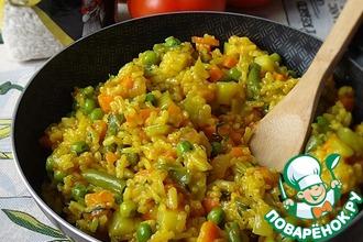 Рецепт: Овощная паэлья