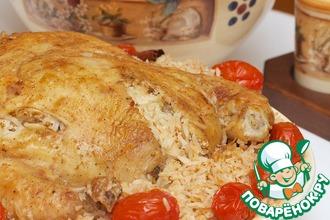 Рецепт: Курица с рисом по мотивам Тбит