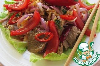 Рецепт: Тайский салат Шабу-шабу