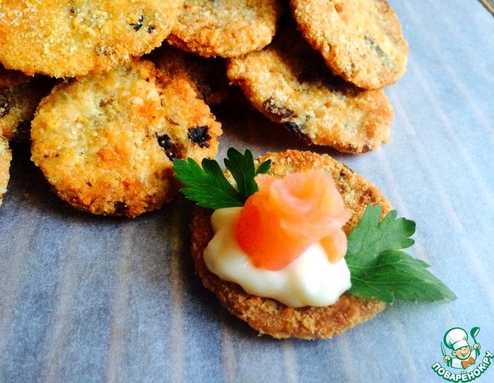 печенье хрустящее а сверху сыр рецепт