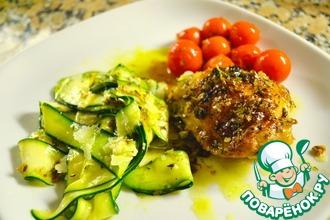 Рецепт: Курица, запеченная с тимьяном и лимоном