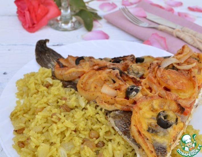 Рецепт: Камбала с пряным рисовым гарниром