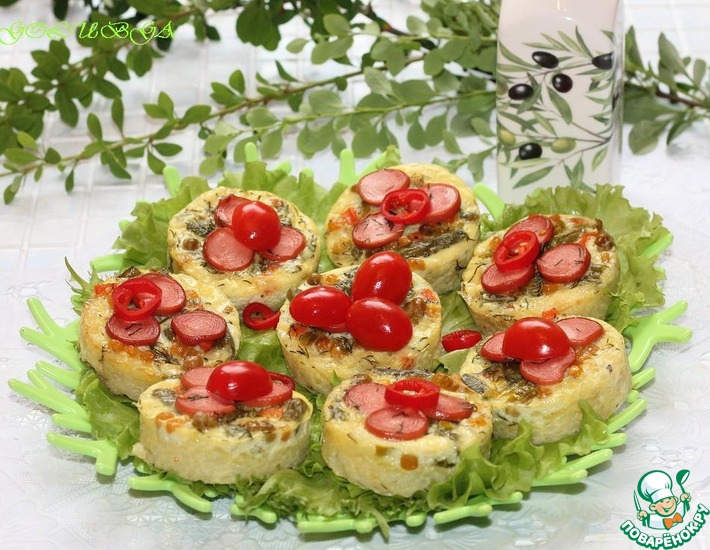 Рецепт: Фриттата с рисом и овощами