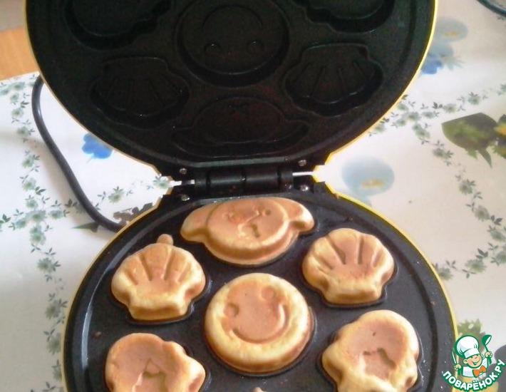 рецепт печеньев для электровафельницы