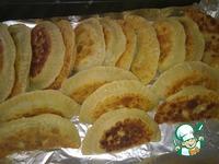 Брики из пресного теста с мясом и сыром ингредиенты