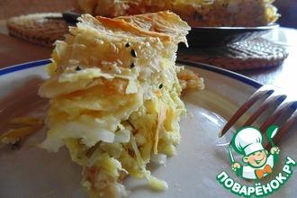 Рецепт: Пирог с кабачками и лавашем