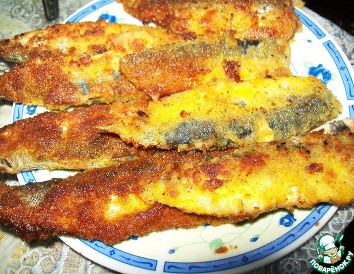 Рецепт: Салака жареная с томатной пастой