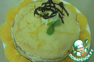 Рецепт: Блинный торт с апельсиновым ликером (Grand marnier)