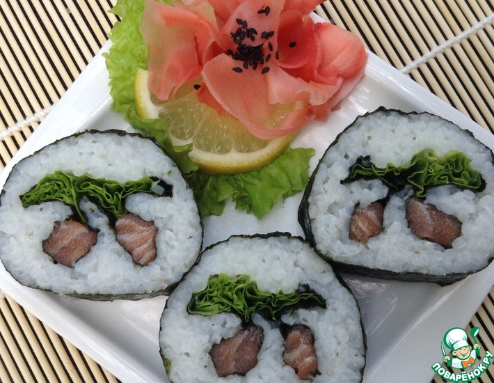 Рецепт: Кадзари суши Японская вишня