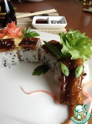 Роллы дракон – кулинарный рецепт