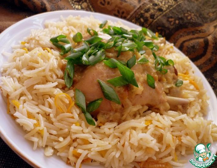 Рецепт: Кокосовая курочка карри с апельсиновым рисом