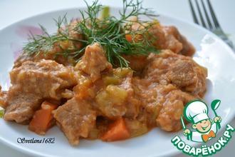 Рецепт: Кабачки с мясом в мультиварке