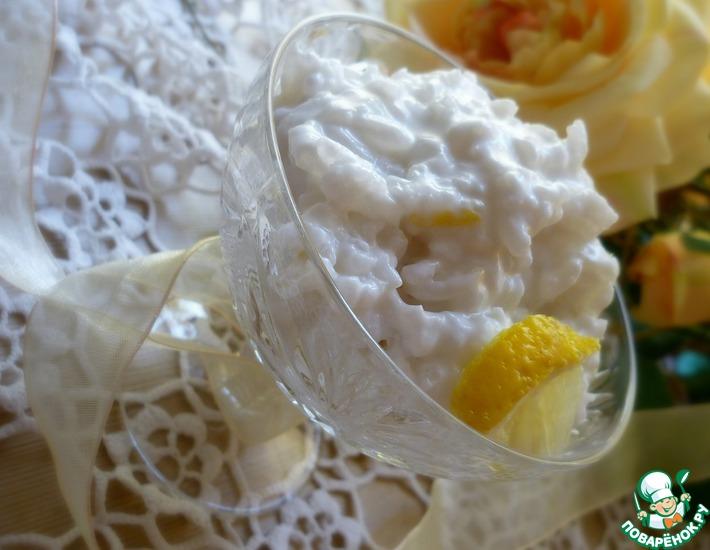Рецепт: Лимонно-рисовый пудинг с лавровым листом