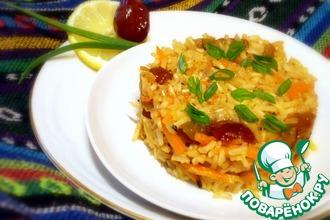 Рецепт: Плов из коричневого риса с финиками и морковью