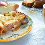 Творожный кекс с яблоками