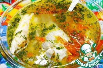 Рецепт: Суп из судака с овощами