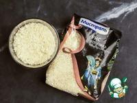 Салат с теплыми рулетами из кальмара и риса ингредиенты