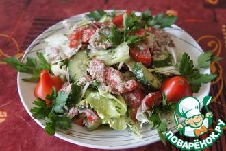 Рецепт: Салат из свежих овощей Глехурад
