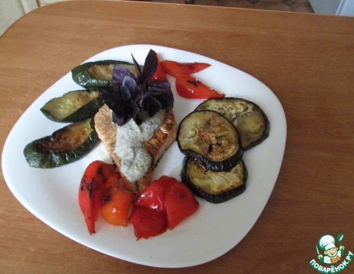 Рецепт: Форель с овощами