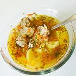Суп с гречкой Жареный