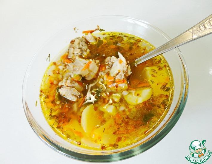 Рецепт: Суп с гречкой Жареный