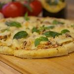Пицца с филе индейки и грибами