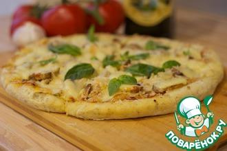 Рецепт: Пицца с филе индейки и грибами