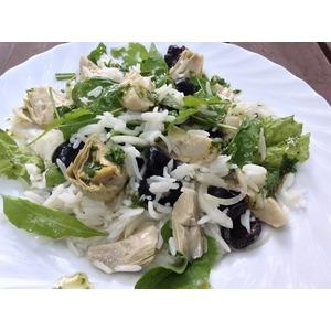 Салат с рисом и артишоками