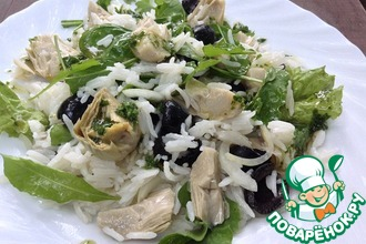 Рецепт: Салат с рисом и артишоками