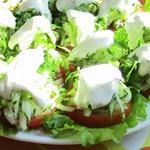 Салат-закуска из помидоров и огурцов Милан