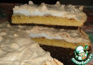 Рецепт Яблочно-банановый пирог с мягким безе