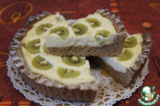 Творожный тарт с киви и имбирем