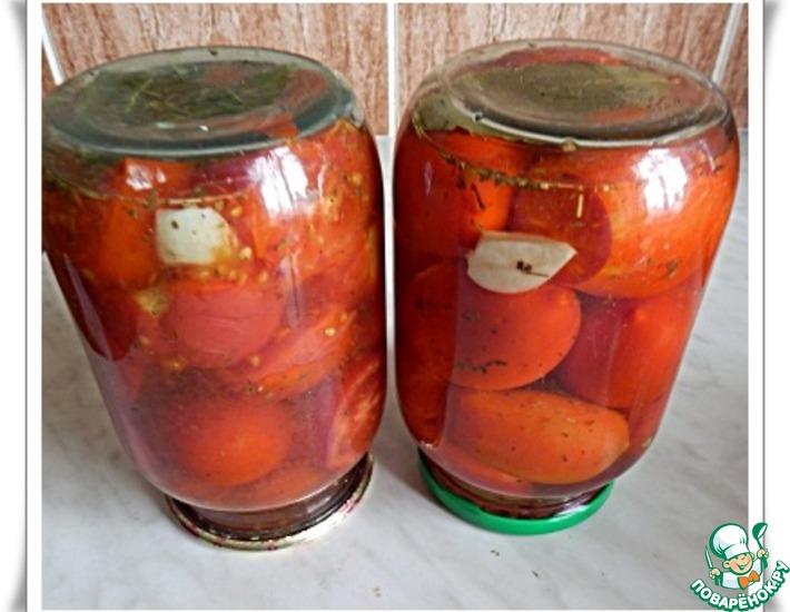 Рецепт: Маринованные помидоры в микроволновке