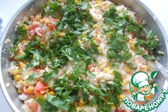 Рецепт: Рис с помидорами и кукурузой