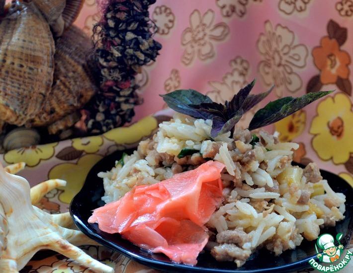 Рецепт: Тайский жареный рис со свининой и базиликом
