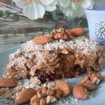 Геркулесовый пирог с яблоками и финиками