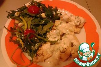 Рецепт: Курица в кефирном маринаде на пару