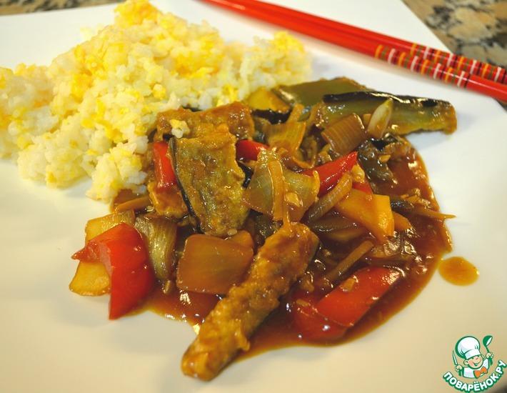 Рецепт: Жареные баклажаны по-китайски