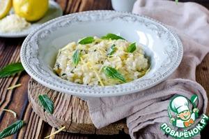Лимонно-мятное ризотто – кулинарный рецепт