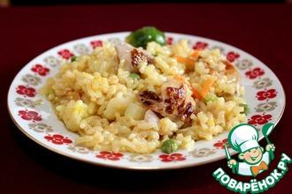 Рецепт: Паэлья с курицей и овощами
