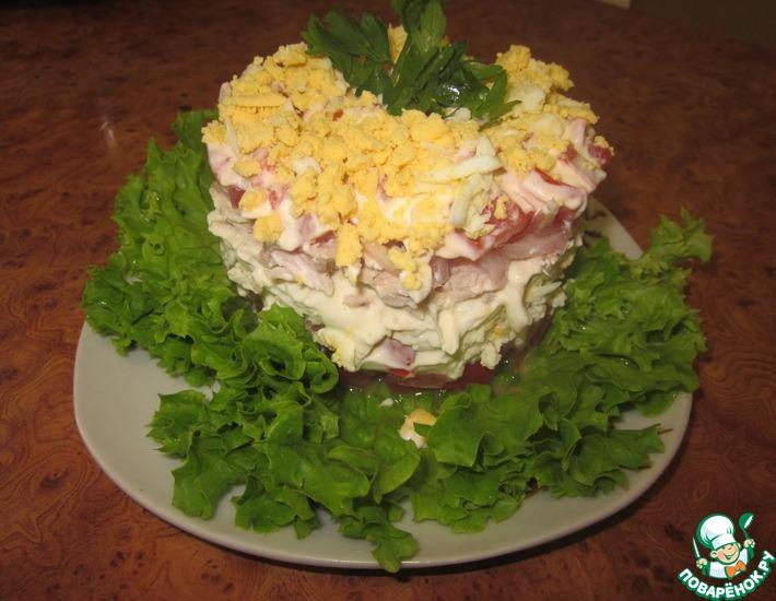 Рецепт: Салат  Нежный