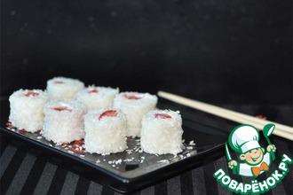 Рецепт: Сладкие роллы Цветок сакуры