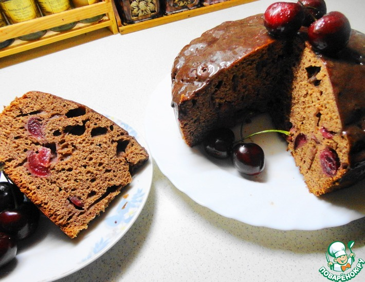 Рецепт: Пирог Черешневый рай (в мультиварке)