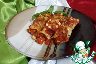 Рецепт: Каннеллони с бататом и беконом Лучиано