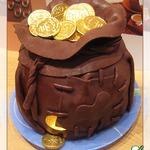 Торт Мешок с деньгами